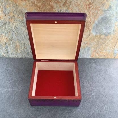 Handcrafted Purple Tulips Box