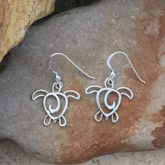 Sea Turtle Silhouette Earrings