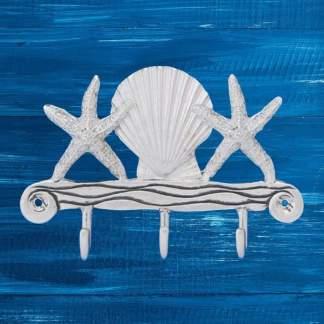 Seashell & Starfish Triple Hook