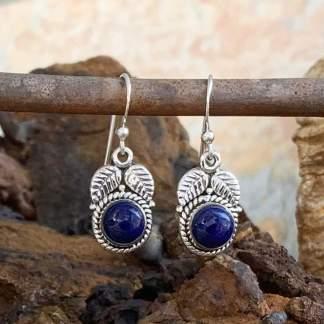 Lapis Lazuli Leaf Earrings