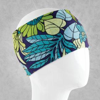 Green Leaves Bandana Head-Wrap