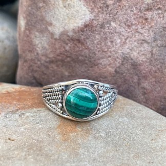 Sterling Silver & Malachite Ring