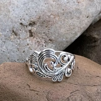 Sterling Angel Feather Ring