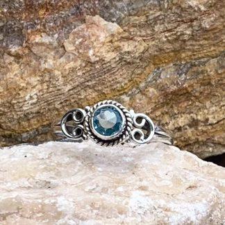 Dainty Blue Topaz Ring