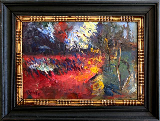 """""""Dämmerung"""", 2015, Öl auf Malplatt e, 33 x 22,5cm"""