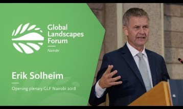 Erik Solheim at the Opening Plenary, GLF Nairobi 2018