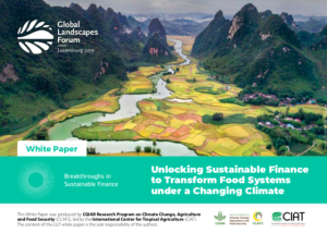 Unlocking Sustainable Finance to Transform Food Systems Under a Changing Climate – White paper
