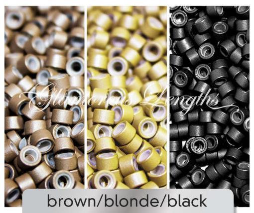 1000 X brown micro rings (5mm)