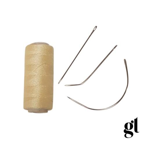 weft thread and needle set (blonde)