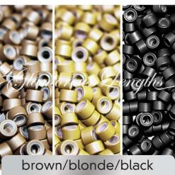 100 x blonde silicone micro rings (5mm)