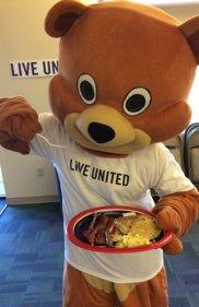 Teddy eats pancakes, too!