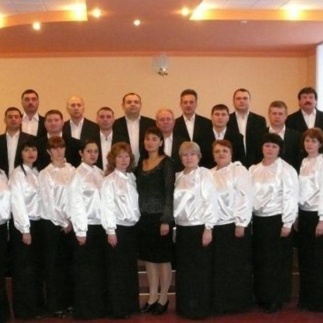 Corul profesorilor al Şcolii de muzică, dirijor Oxana GRANEVSCHI