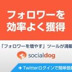 Twitterでの集客・フォロワー増やしにオススメのツール「SocialDog」
