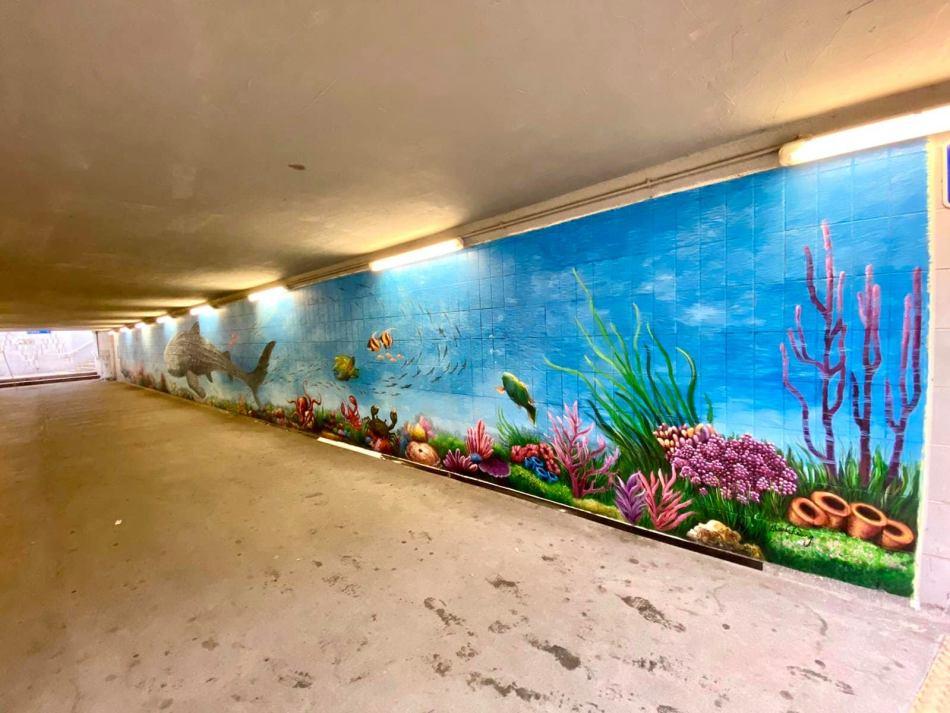【香港好去處】17個香港壁畫打卡點─香港壁畫村、壁畫街、街頭藝術──香港街頭藝術──九龍城隧道