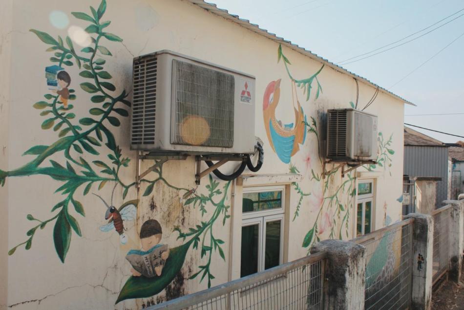 【香港好去處】17個香港壁畫打卡點─香港壁畫村、壁畫街、街頭藝術 - 香港壁畫村──粉嶺坪輋壁畫村