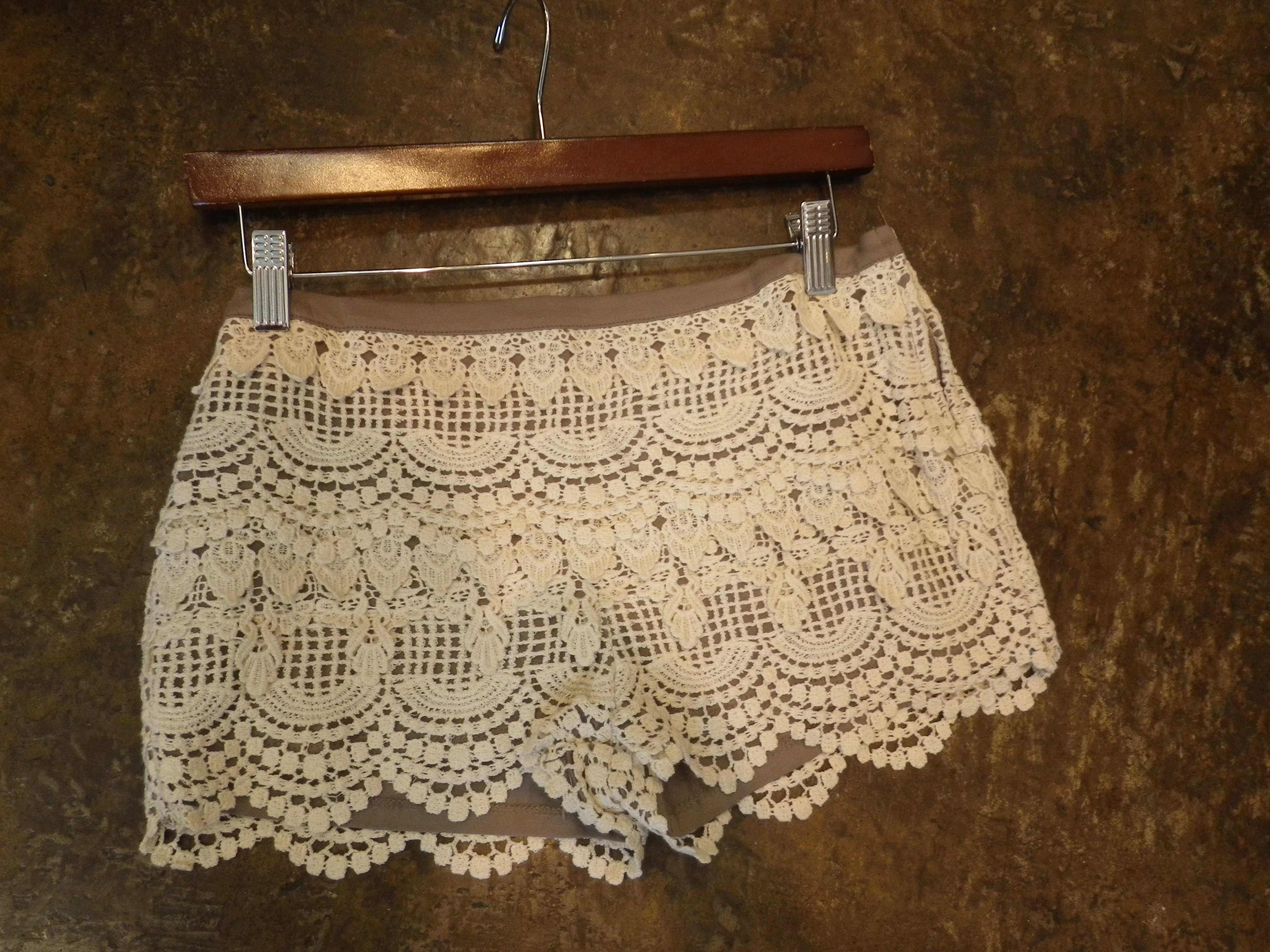 397cc8c2229da Wear these Lace Hot Shorts with Booties   a Crop Top!! HOT OR NOT