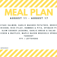Meal Plan: August 11 - August 17