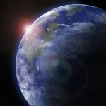 Earth from space. Detailed image.