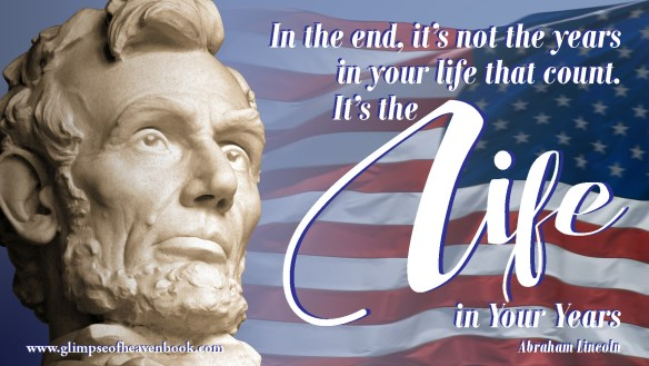 Abraham Lincoln, the sixteenth President of the United States, with the current flag of the United States of America.