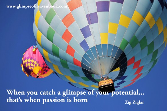 When you catch a glimpse of your potential... that's when passion is born    Zig Ziglar
