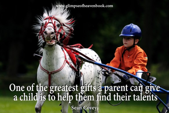 One of the greatest gifts a parent can give a child is to help them find their talents. Sean Covery
