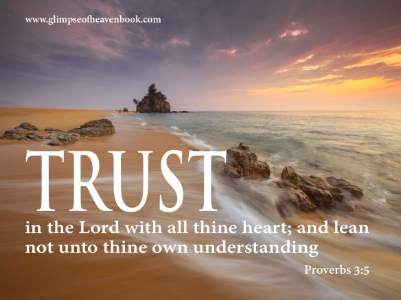 Trust in the Lord with all thine heart; and lean  not unto thine own understanding.  Proverbs 3:5