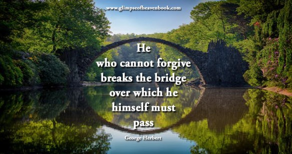 He who cannot forgive breaks the bridge over which he himself must pass George Herbert