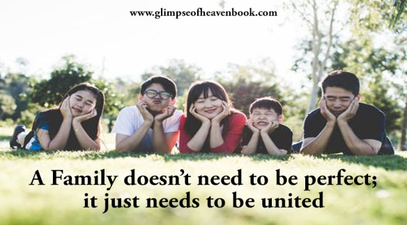 A Family doesn't need to be perfect; it just needs to be united