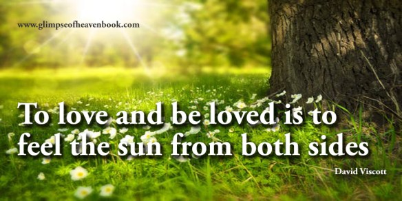 To love and be loved is to feel the sun from both sides David Viscott