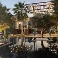 Reflective pool at Al Marsa Ajman