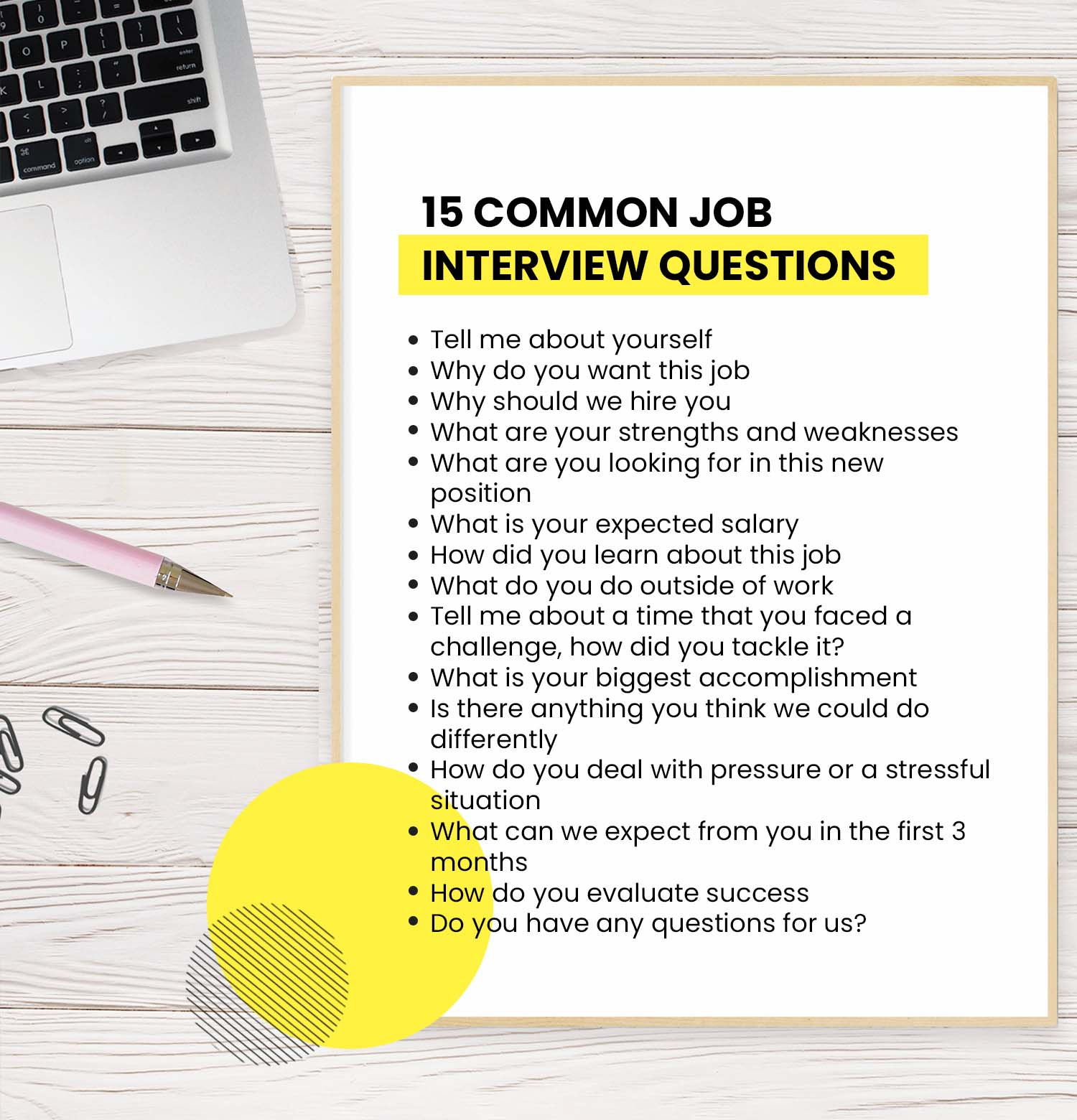 15 Common Job Interview Questions You Ll Be Asked And How