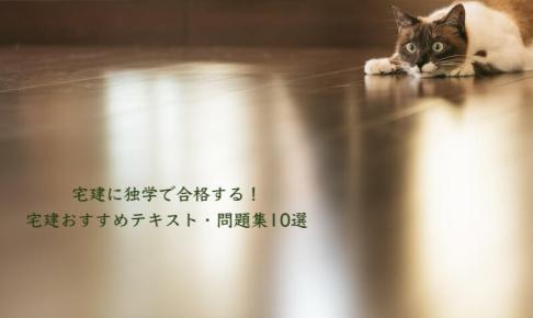 猫のおすすめ宅建