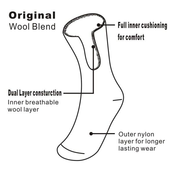 Full cushioning sock