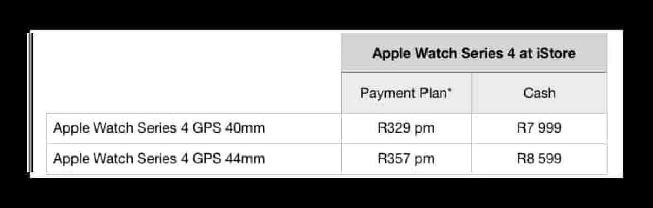 Apple Watch Series 4 payment plan