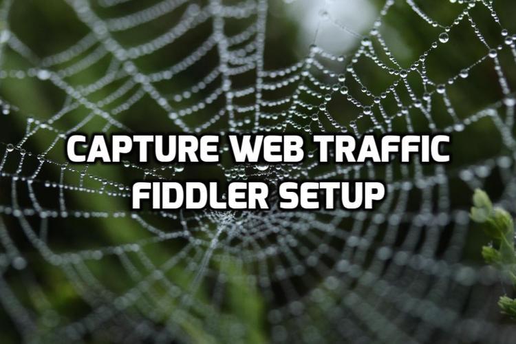 Capture Web Traffic Fiddler Setup