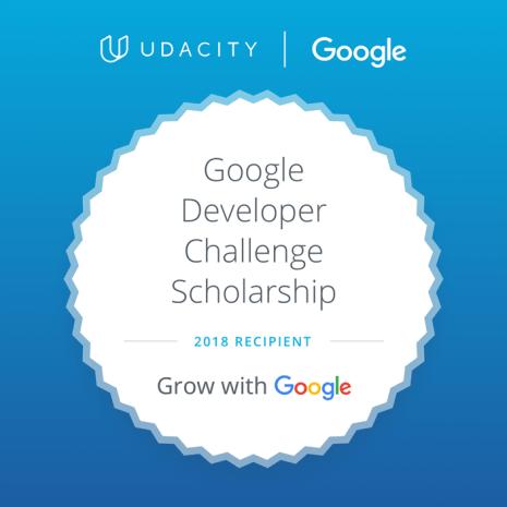 GrowWithGoogle Developer Challenge Scholarship