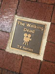 Walking Dead Filming - Sign