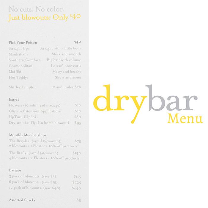 Dry-Bar-Menu