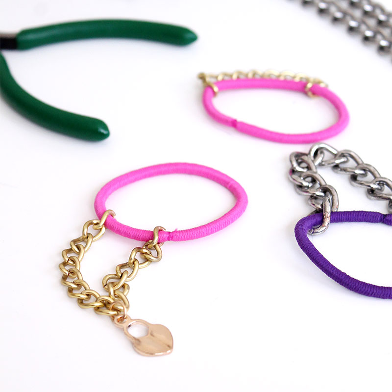 A charm bracelet DIY by Glitter and Bubbles.