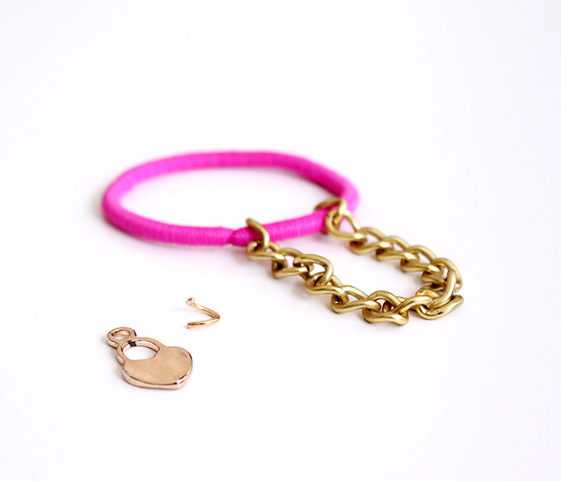 A charm bracelet DIY by Glitter and Bubbles.