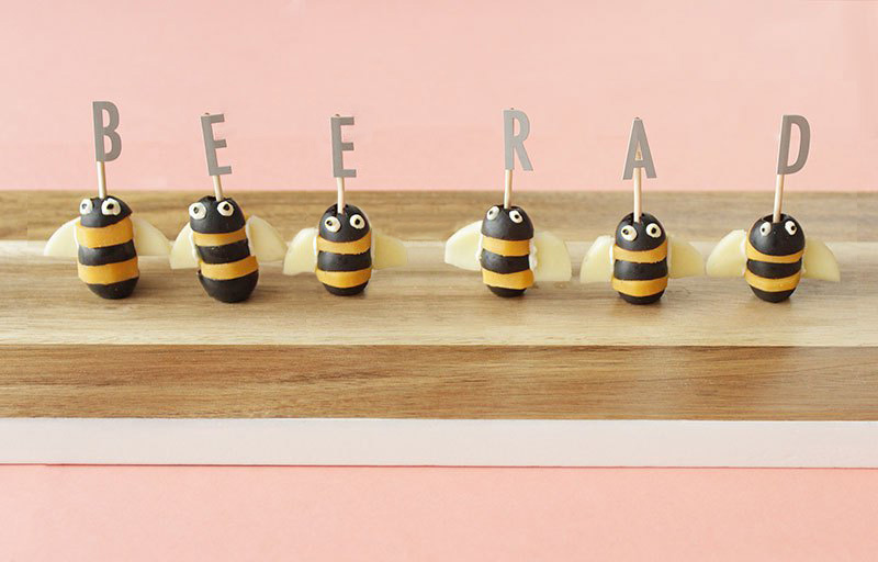 cheese-and-olive-bees