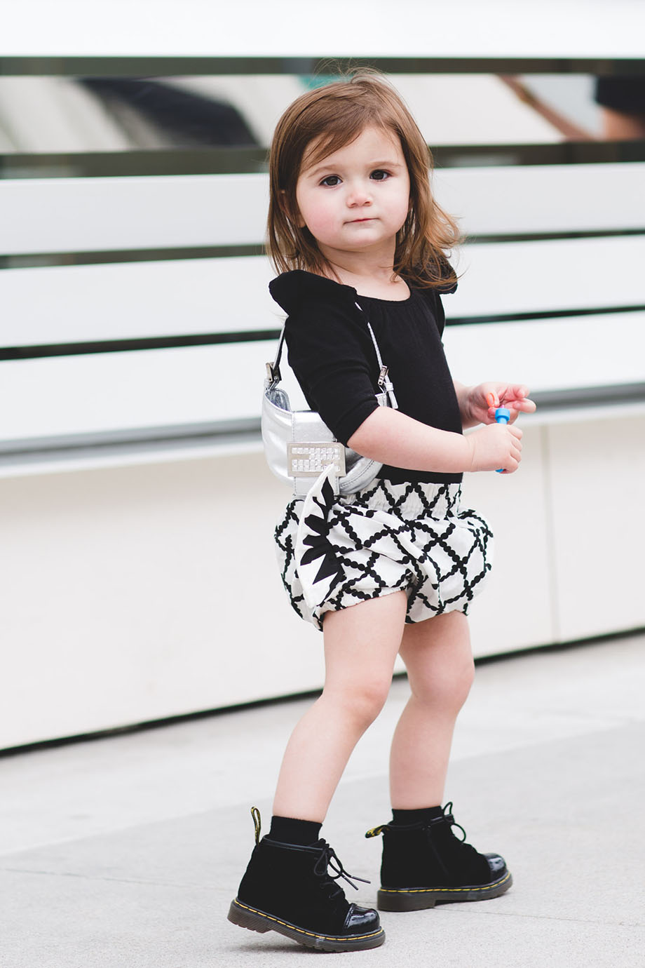 This is a mother daughter fashion post by Glitter and Bubbles on Rodeo Drive in California.