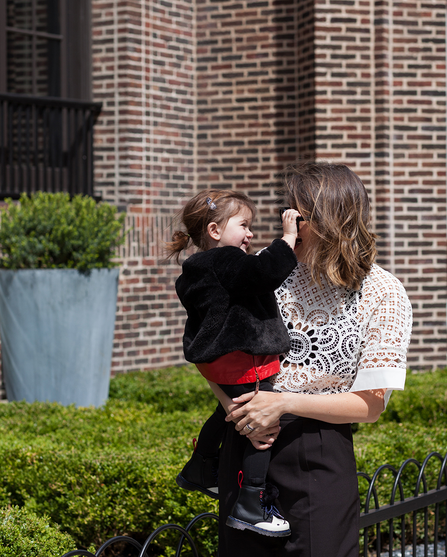This is a mother daughter street style fashion post by Glitter and Bubbles in Chicago.