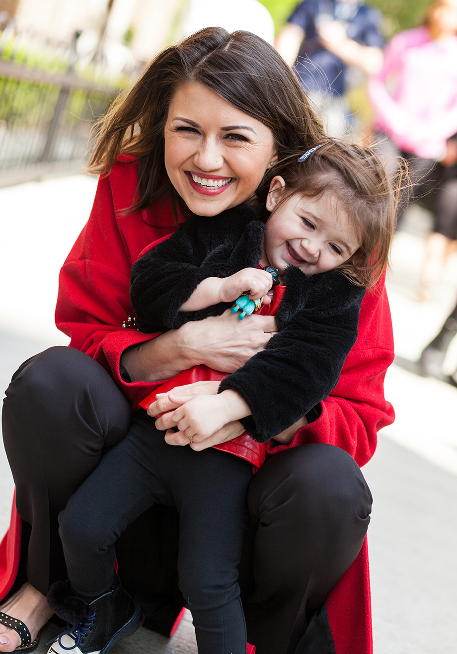 This is a mother daughter street style cold fashion post by Glitter and Bubbles in Chicago.