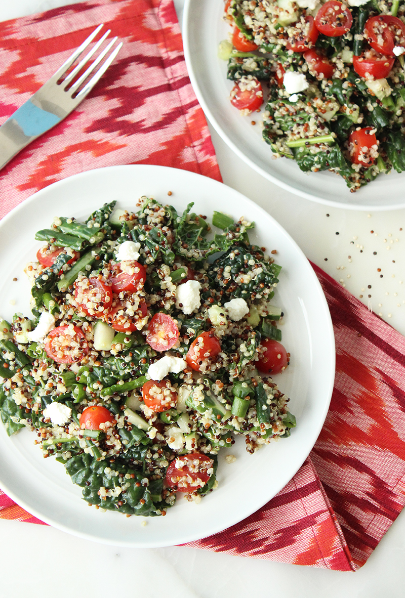 This is a recipe for Quinoa Salad by Kim Wardell for Glitter and Bubbles.
