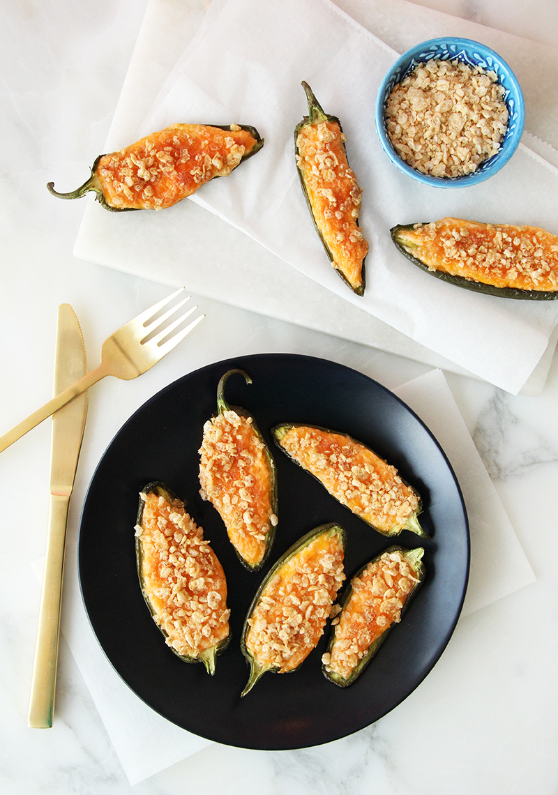 This is a recipe for jalapeño poppers by Glitter and Bubbles.