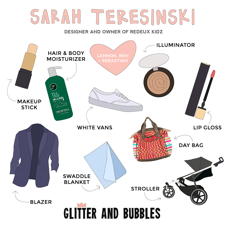 This is a post by Glitter and Bubbles featuring Sarah Teresinki as this week's Rad Mom.