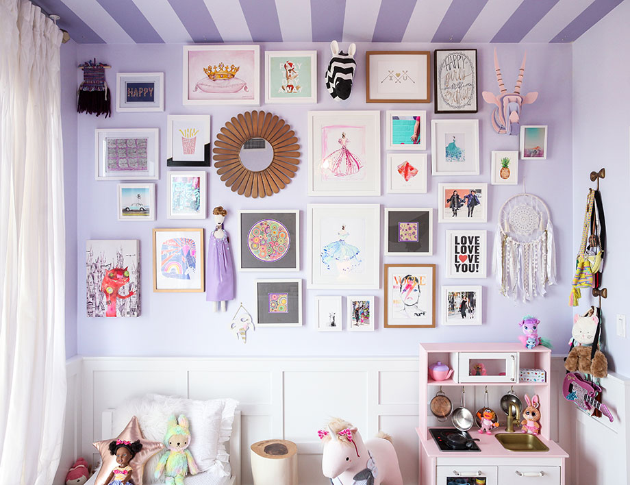 This is an interior design post by Glitter and Bubbles that transforms a nursery into a big girl room.