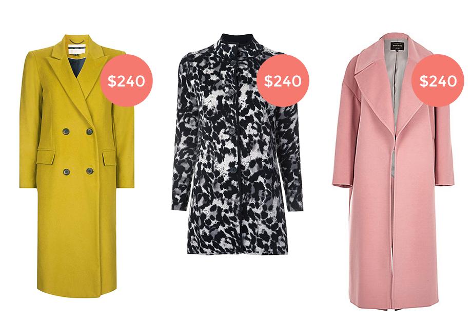 Three winter coats under $250.