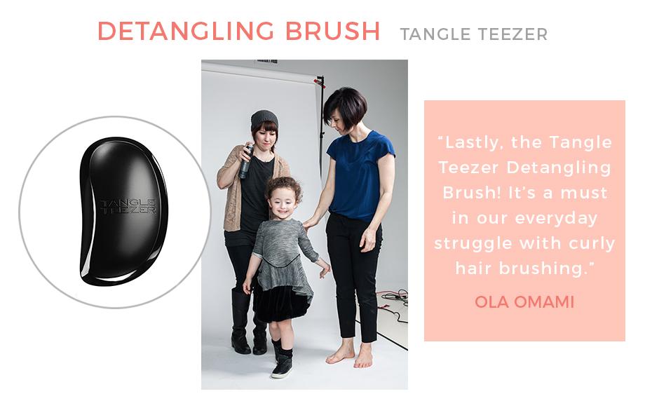 The Tangle Teezer detangling brush.
